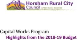 Capital Works Program - Highlights from the 2018-19 Budget