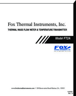 Fox Thermal Instruments, Inc. THERMAL MASS FLOW METER & TEMPERATURE TRANSMITTER