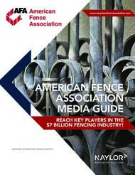 ASSOCIATION - AMERICAN FENCE MEDIA GUIDE