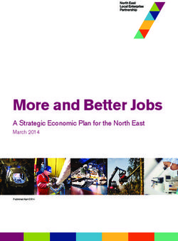 More and Better Jobs A Strategic Economic Plan for the North East