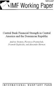 Central Bank Financial Strength in Central America and the Dominican Republic