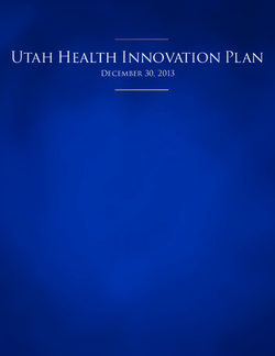 Utah Health Innovation Plan December 30, 2013