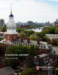 Financial Report. Fiscal Year 2014. Harvard University.