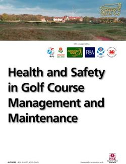 Health and Safety in Golf Course Management and Maintenance