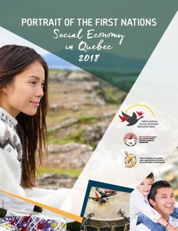Social Economy in Quebec 2018 - PORTRAIT OF THE FIRST NATIONS