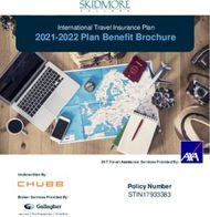 2021-2022 Plan Benefit Brochure - Policy Number STIN17933383 - International ...
