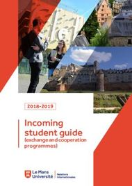 Incoming student guide - (exchange and cooperation programmes)