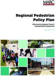 Regional Pedestrian Policy Plan - Mid-America Regional Council Transportation Department
