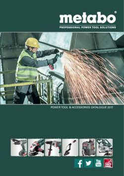Power Tool & Accessories Catalogue 2017 - Metaboo