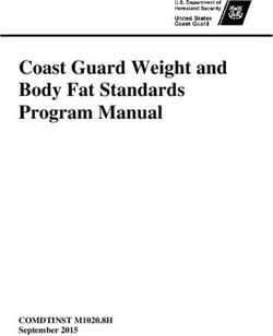 Coast Guard Weight and Body Fat Standards Program Manual