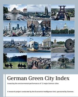German Green City Index Assessing the environmental performance of 12 major German cities