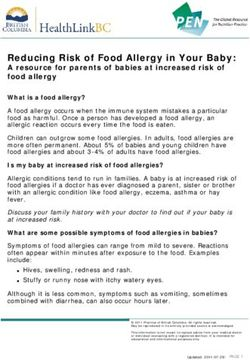 Reducing Risk of Food Allergy in Your Baby