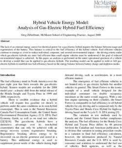 Hybrid Vehicle Energy Model: Analysis of Gas-Electric Hybrid Fuel Efficiency