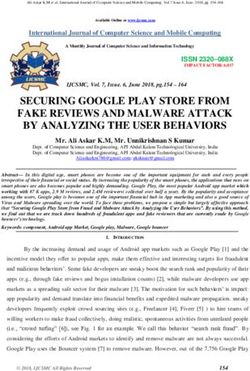 SECURING GOOGLE PLAY STORE FROM FAKE REVIEWS AND MALWARE ATTACK BY ANALYZING THE USER BEHAVIORS