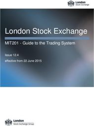 London Stock Exchange - MIT201 - Guide to the Trading System
