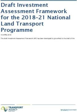 Draft Investment Assessment Framework for the 2018-21 National Land Transport Programme
