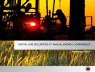 CAPITAL ONE SECURITIES 9TH ANNUAL ENERGY CONFERENCE