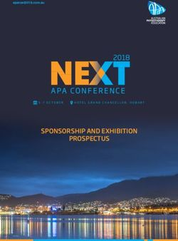 2018 SPONSORSHIP AND EXHIBITION PROSPECTUS