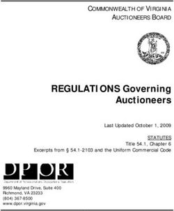 REGULATIONS Governing Auctioneers