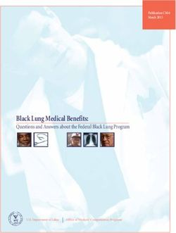 Black Lung Medical Benefits: Questions and Answers about the Federal Black Lung Program