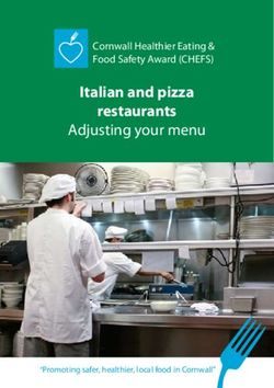 Italian and pizza restaurants - Adjusting your menu