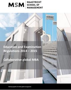 Education and Examination Regulations 2014 - 2015 Collaborative global MBA
