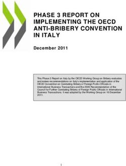 PHASE 3 REPORT ON IMPLEMENTING THE OECD ANTI-BRIBERY CONVENTION IN ITALY
