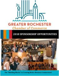 "2018 SPONSORSHIP OPPORTUNITIES The ""Building Blocks"" to Creating Better Business Connections!"