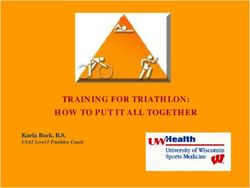 TRAINING FOR TRIATHLON: HOW TO PUT IT ALL TOGETHER