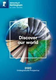 University of Nottingham 2020 - Discover our world
