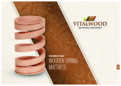WOODEN SPRING MATTRESS THE WORLD'S ONLY