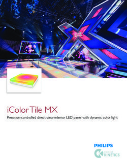 IColor Tile MX Precision-controlled direct-view interior LED panel with dynamic color light
