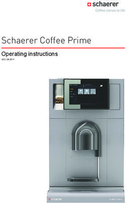 Schaerer Coffee Prime - Operating instructions