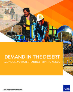 DEMAND IN THE DESERT