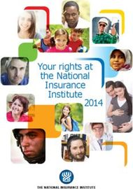 Your rights at the National Insurance Institute 2014