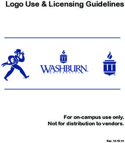 Logo Use & Licensing Guidelines For on-campus use only. Not for distribution to vendors.
