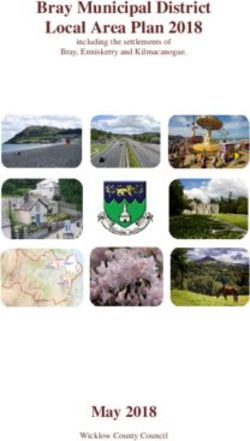 Bray Municipal District Local Area Plan 2018