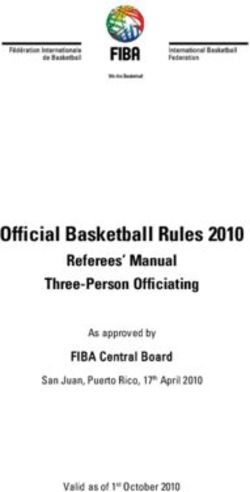 Official Basketball Rules 2010 - Referees' Manual