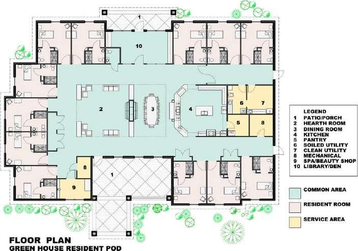 Floor Plan Designs For Nursing Homes
