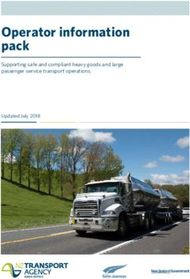 Operator information pack Supporting safe and compliant heavy goods and large passenger service transport operations.