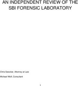 AN INDEPENDENT REVIEW OF THE SBI FORENSIC LABORATORY