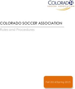 COLORADO SOCCER ASSOCIATION - Rules and Procedures