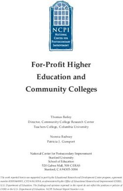 For-Profit Higher Education and Community Colleges