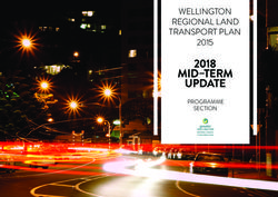 2018 mid-term update - Greater Wellington Regional Council