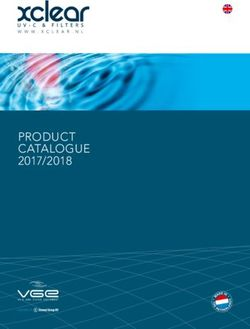 xclear PRODUCT CATALOGUE 2017/2018