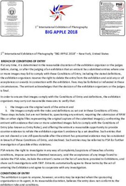 BIG APPLE 2018 BREACH OF CONDITIONS OF ENTRY