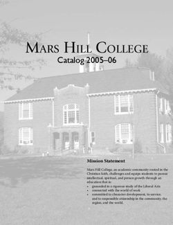 Mars Hill College Catalog 2005-06 Mission Statement