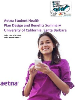 Aetna Student Health Plan Design and Benefits Summary University of California, Santa Barbara