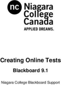 Creating Online Tests - Blackboard 9.1