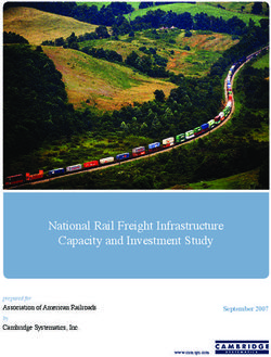 National Rail Freight Infrastructure Capacity and Investment Study